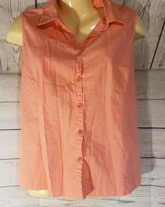 Columbia Coral Button Down Top